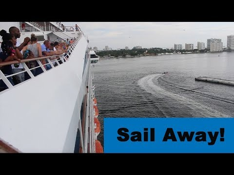 Download Youtube: CARNIVAL CONQUEST CRUISE VLOGS 2017 Day 2 Part II | Sail Away Evening!