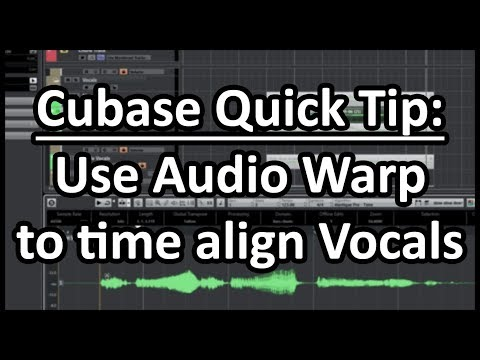 Cubase Quick Tip – Use Audio Warp to Time Align Vocals