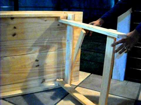 Video mesa plegable youtube for Construir mesa de madera