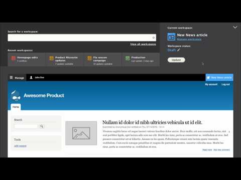 Drupal 8 workspaces preview
