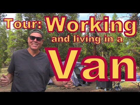 TOUR of a Professional Photographer Living and Working in a Van