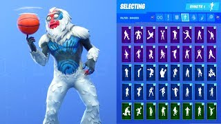 TROG FACE & BODY PAINT SKIN SHOWCASE WITH ALL FORTNITE DANCES & EMOTES