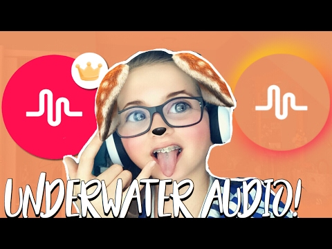 HOW TO MAKE UNDERWATER AUDIO FOR MUSICAL.LY