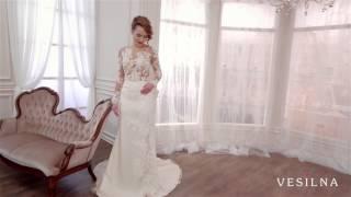 Прямое свадебное платье от VESILNA™ модель 3006