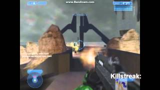 Halo CE Gameplay 3 - Custom Map Take Down