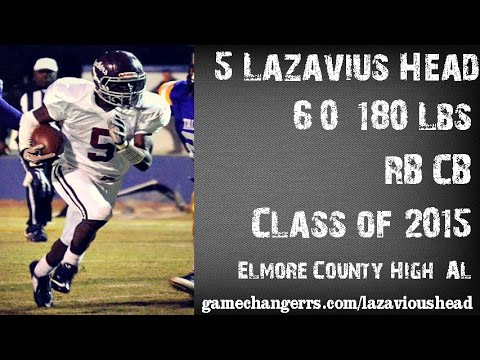 #5 LaZavius Head / RB / Elmore County High (AL) Class of 2015