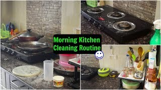 Indian Morning Kitchen Cleaning Routine (SAHM)   Under 20-25 Minutes   Organizopedia