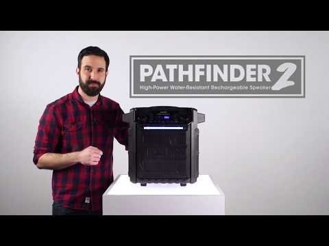 Pathfinder 2 High-Power Water-Resistant Rechargeable Speaker by ION Audio