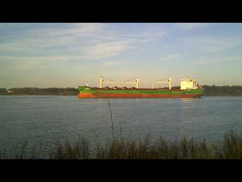 Ship On St. Lawrence River