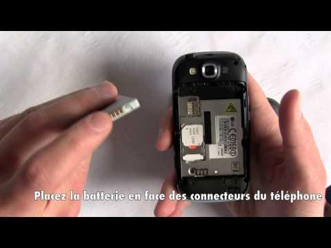 LG GW620 - Installer une carte SIM