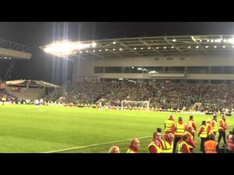 The moment Northern Ireland qualified for Euro 2016 Windsor park Belfast