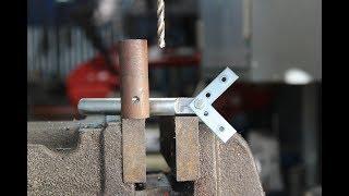 Centratore per tondi fai da te (homemade drill jig)
