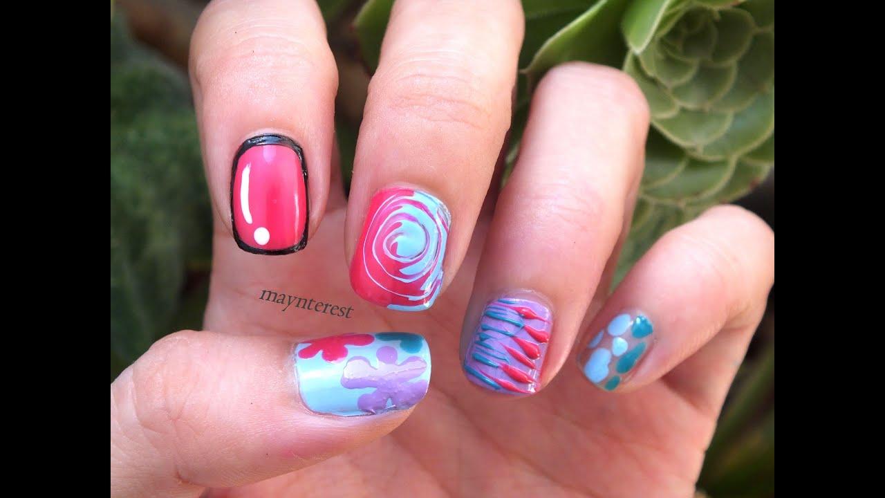 5 dise os de u as f ciles y r pidos madam glam nail art