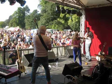 Southern Man ending Saltaire Festival gig 2016