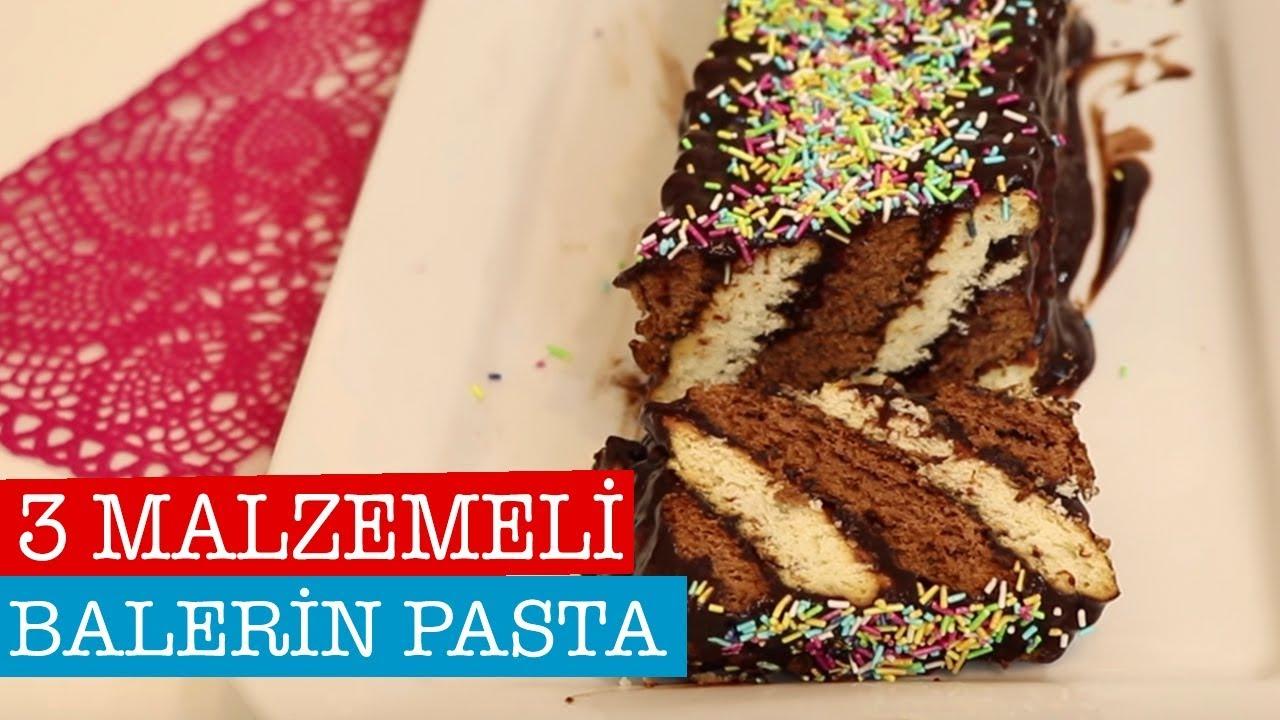 3 Malzemeli Bisküvi Pastası Tarifi Videosu