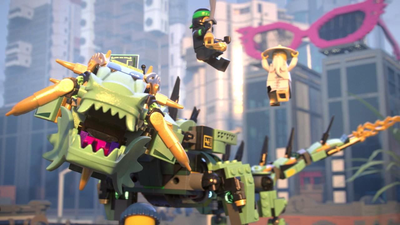 Green ninja mech dragon lego ninjago movie 70612 product animation youtube - Dragon ninjago lego ...