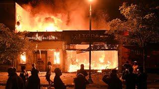 Riots in Minneapolis following death of black man in police custody