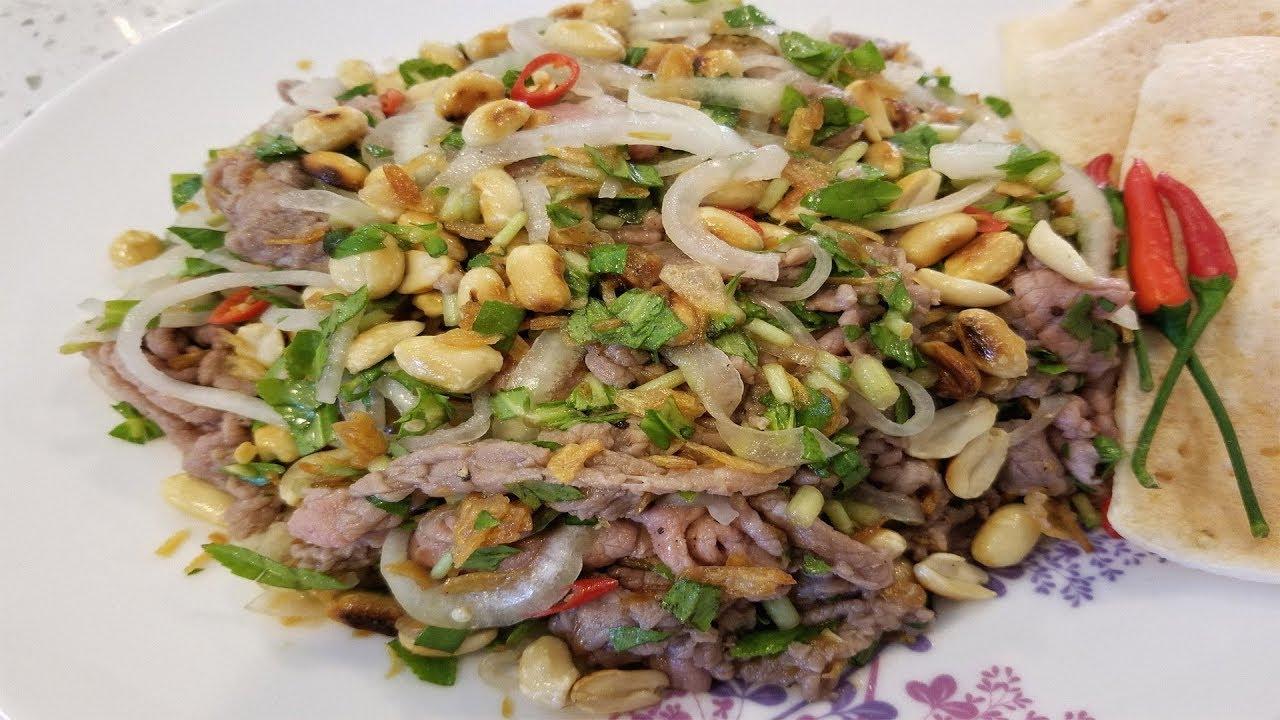 Cách làm món bò tái chanh (hay bò bóp thấu)