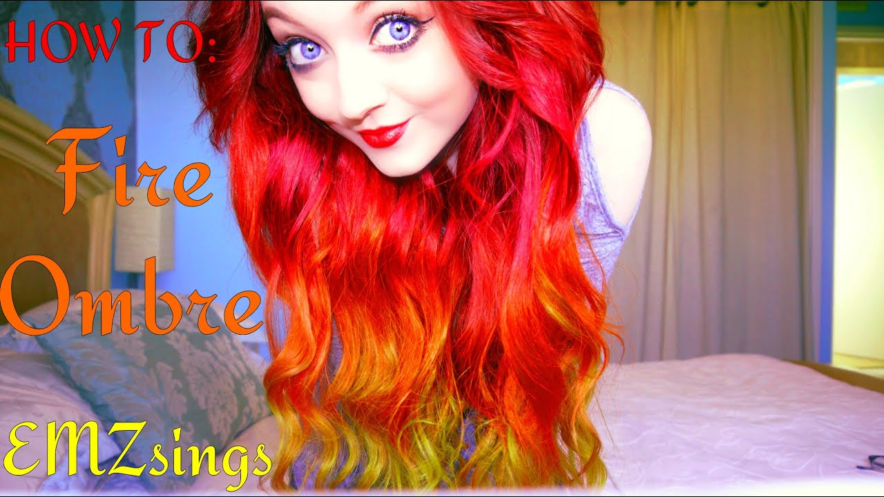 How to fire ombr hair dye tutorial how i put my extensions in how to fire ombr hair dye tutorial how i put my extensions in emzsings youtube solutioingenieria Gallery