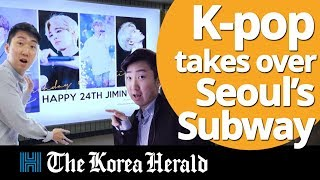 K-pop takes over Seoul's subway