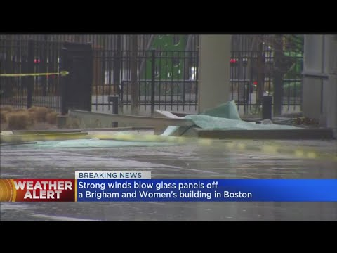 Strong Winds Blow Glass Panels Off Boston Building