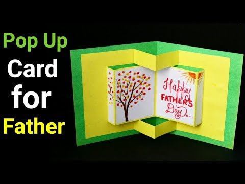 Pop Up Card Tutorial | 3D Card for father's day | Father's Day Gift Ideas |