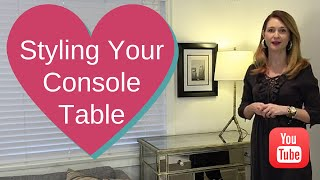 Interior Design - Styling Your Console Table 2015