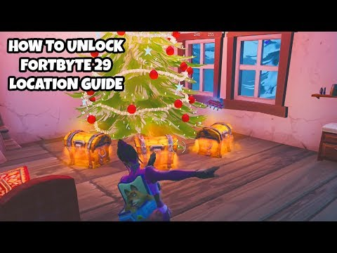 How To Unlock Fortbyte 29 Location Guide | Found Underneath The Tree In Crackshot's Cabin