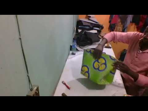 How to make bag from round pattern