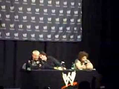 Carlito talks about Triple H at a press conference in Chile