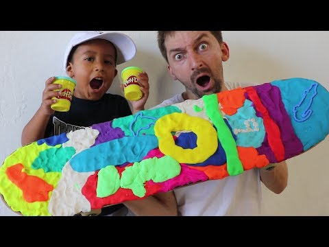 PLAY DOH SKATEBOARD WITH 4 YEAR OLD SKATER!