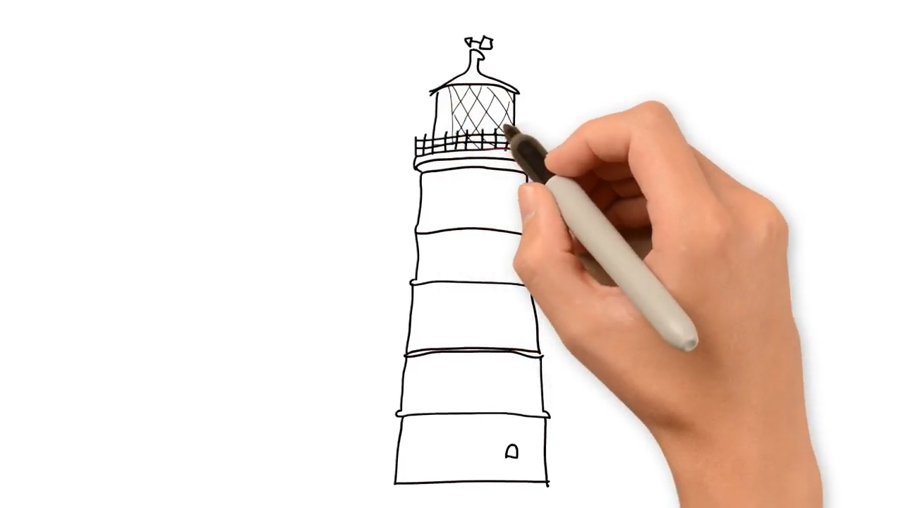 how to draw lighthouse youtube