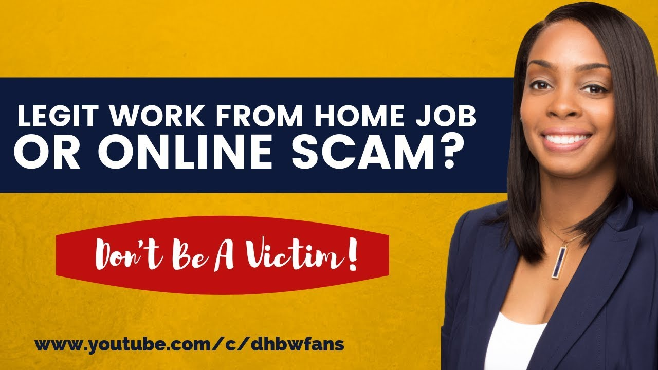 How To Find Legit Work from Home Jobs, Spotting Online ...