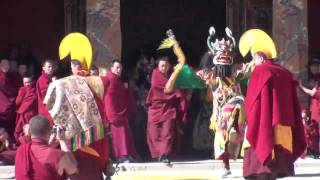Cham Dance (2) at Rongwu Monastery, Repkong. Amdo Region.