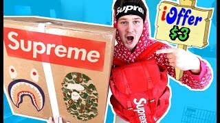 I BOUGHT THE CHEAPEST ITEMS I COULD FIND OFF IOFFER!!! (supreme, Yeezys, Bape Etc.)