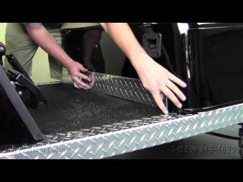 Ezgo Diamond Plate Kick Panel How To Install Video
