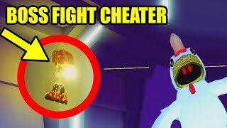 BEATING the MAD CITY CHICKEN BOSS... then an EXPLOITER JOINED Roblox Mad City