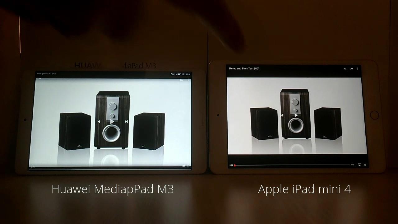 Huawei MediaPad M3 contra Apple iPad mini 4 Comparación