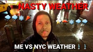 NYC Nasty Weather Bomb Cyclone