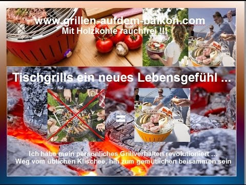 grillen auf dem balkon mit holzkohle ohne rauch youtube. Black Bedroom Furniture Sets. Home Design Ideas
