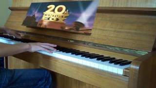 20th Century Fox Fanfare on Piano with 20th Centruy Fox Title Scree...
