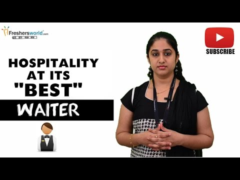 Job Roles For Waiter –  Hotel,Restaurant,Food handling procedure