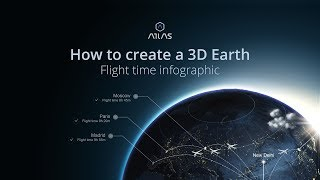 How to create a 3D Earth flight time infographic with Photoshop and ATLAS