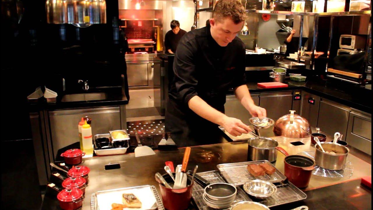 Olivier Elzer cooks at Joël Robuchon in Hong Kong