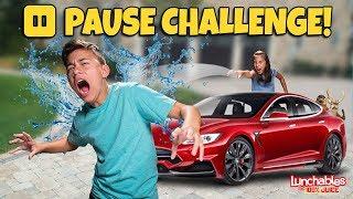 WATER BALLOON PAUSE CHALLENGE!!! Evan VS Jillian!!