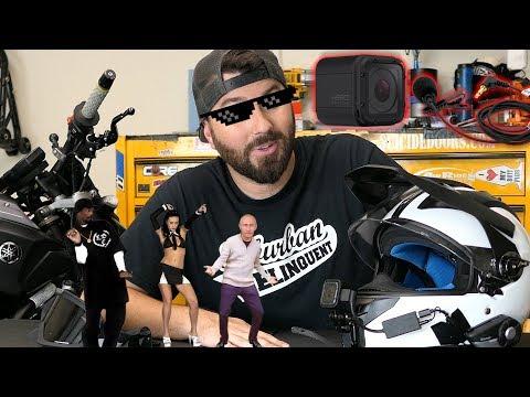My Motovlogging Helmet How To Mega RockStar 5000
