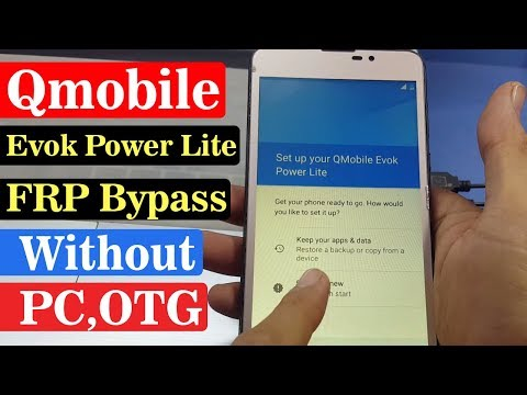 Evok Power Lite Google Account Bypass | Android 7.0 | Without PC,OTG