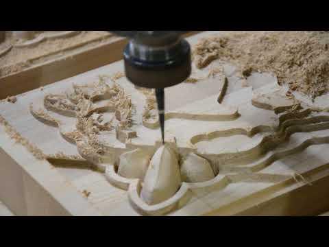 Резьба по дереву - видео с производства от  RezbaPro