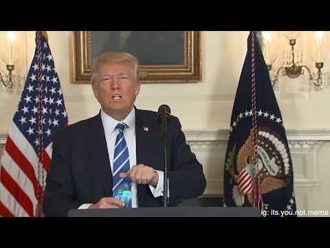 Donald Trump Drinks Water Meme
