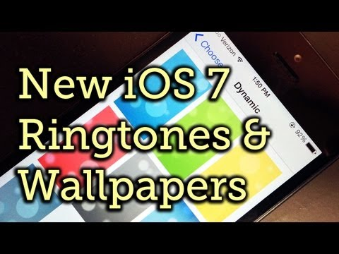 iOS 7 Ringtones & Dynamic Wallpapers (New Hands-On)